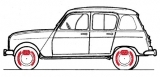 Freinage Renault 4, R4, 4L Berline.