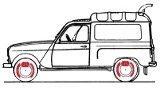 Hand brake 4l Van, 4L F4, 4L F6