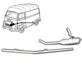 Parts for Renault Estafette exhaust line first assembly