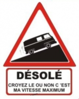 "Stickers ""Sorry"" Renault Estafette"