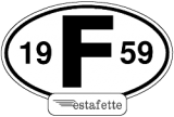 "Renault Estafette stickers ""Years 1959 -> 1980"""