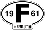 "Stickers ""Years"" - Renault 4 1961 -> 1992"