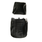 Seat covers for Renault R4 4L van F4 and F6. Black skai.