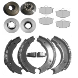 Brake shoes, pads, drums, disks for Renault R4 4L
