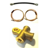 Hoses, rigid pipes and Tee for Renault R4 4L