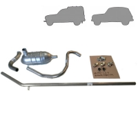 Complete exhaust line for Renault R4 4L.