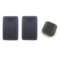 Set of 3 pedal covers. 100% compliant, for Renault R4 4L from 1972 to end.