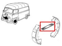 Front brake shoes link plate for Renault Estafette.