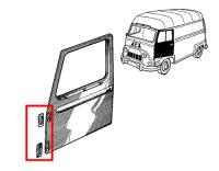 Pair of front door hinge seals for Renault Estafette. Left or right side.