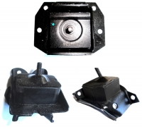Engine and gearbox mounts kit for Renault R4 4L with Cleon 956 or 1100cc engine.