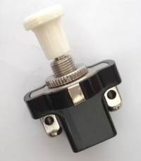 2 positions switch for Renault R4 4L or Renault Estafette with screw terminals. Black.