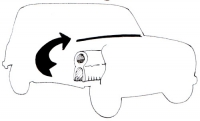 Joint entre caisse et capot moteur pour Renault R4 4L.