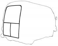 Joints hayon et portillons arrière pour Renault Estafette tous modèles.