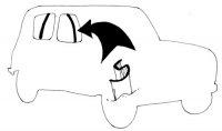 Feutres lécheurs verticaux de vitres avant et arrière pour Renault R4 4L berline. Pour 4 portes.