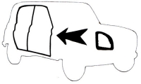 ATTENTION MODIFIED KIT! Door seal kit for 4 doors + upper tailgate of Renault R4 4L sedan. Conform origin. Hollow.