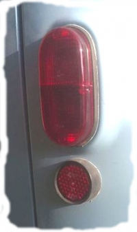 Taillight lens, all Renault Estafette from 1970 to end of production. Red.