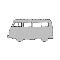 Set of body seals and rubbers parts for Renault Estafette Alouette or Microcar raised (fiber roof).