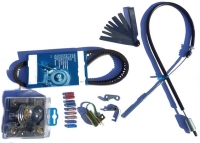 """""""Survival"""" kit for Renault Estafette with Cléon 1100 or 1300 engine, original Ducellier distributor, 1-belt mounting, braking with mastervac."""
