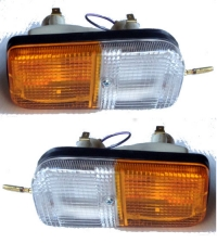 Pair of turn signals complete for Renault R4 4L.