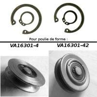 Kit de 4 circlips pour galet tendeur pour Renault R4 4L ou Renault Estafette.