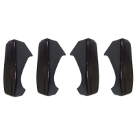 Bumper guards set of 4 for Renault R4 4L sedan. 4L since 1968.