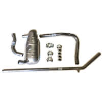 Complete exhaust line for Renault R4 4L van F4 type 210B00, all models.