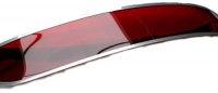 Casquette de pare-brise, pare-soleil extérieur pour Renault Estafette. Couleur rouge.