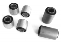 Kit of mounting rubbers of front axle for Renault R4 4L, superior and inferior.