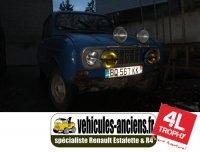 Support / platine de fixation phares / barre de leds additionnels pour Renault R4 4l. V2.0