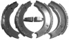 Set of 4 rear brake shoes for Renault R4 4L.