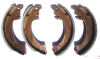 Set of 4 front brake shoes for Renault R4 4L.