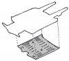 Plancher complet pour Renault R4 4L.