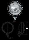 Additional headlight metal for Renault R4 4L or Renault Estafette. 100W H3 bulb supplied. Long range.