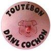 """Sticker """"Toutébon danl cochon."""", for any Renault R4 4L or Renault Estafette."""