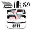 Pack 4 ailes, capot pour Renault R4 4L, pare-chocs chromés, ferrures butoirs. Capot pour modèles avec plaque d'immatriculation rivetée dessus.