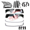 Pack 4 ailes, capot pour Renault R4 4L, pare-chocs peints, ferrures butoirs. Capot pour modèles avec plaque d'immatriculation rivetée dessus.