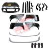 Pack 4 ailes, capot pour Renault R4 4L, pare-chocs peints, ferrures et butoirs. Capot pour modèles avec plaque d'immatriculation fixée sur le pare-choc.