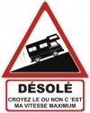 """Autocollant """"Désolé"""" Renault Estafette Camping Car - 25 CM de haut"""