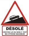 """Autocollant """"Désolé"""" Renault 4 R4 4L Berline - 15 CM de haut"""