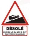 """Autocollant """"Désolé"""" Renault 4 R4 4L Fourgonnette - 15 CM de haut"""