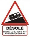 """Autocollant """"Désolé"""" Renault Estafette - 15 CM de haut"""