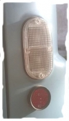 Taillight cover, all Renault Estafette from 1970 to end of production. Crystal.