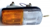 Rectangular turn signal light assembly for Renault R4 4L. Right side, with bulbs.