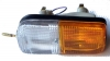 Rectangular turn signal light assembly for Renault R4 4L. Left side, with bulbs.