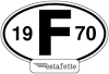 """Autocollants Renault Estafette """"F"""",  avec année 1970"""