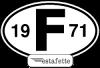 """Autocollants Renault Estafette """"F"""",  avec année 1971"""