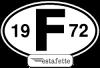 """Autocollants Renault Estafette """"F"""",  avec année 1972"""