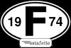 """Autocollants Renault Estafette """"F"""",  avec année 1974"""
