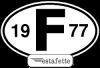 """Autocollants Renault Estafette """"F"""",  avec année 1977"""