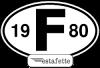 """Autocollants Renault Estafette """"F"""",  avec année 1980"""